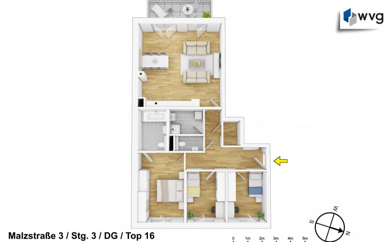 Malzstraße 3 / Stg. 3 / Top 16