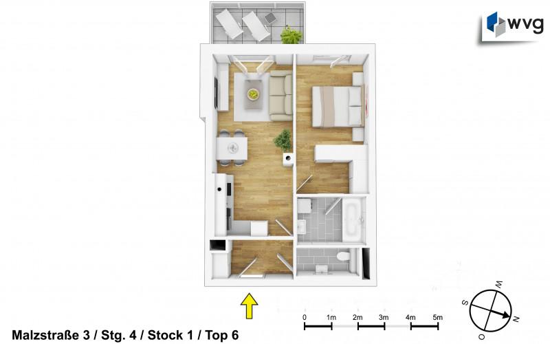 Malzstraße 3 / Stg. 4 / Top 6