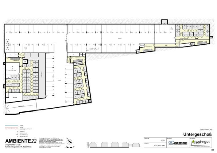 6_Geschoßplan Untergeschoß (Stellplätze und Einlagerungsräume)_VBB