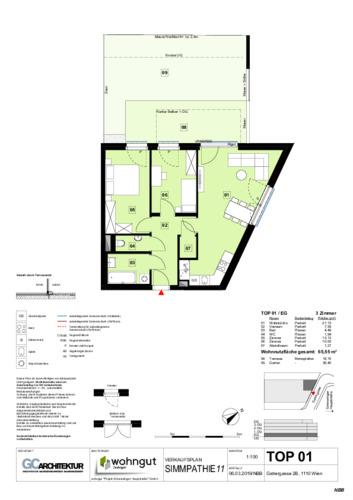 1_Verkaufsplan der Wohnung TOP 01_NBB