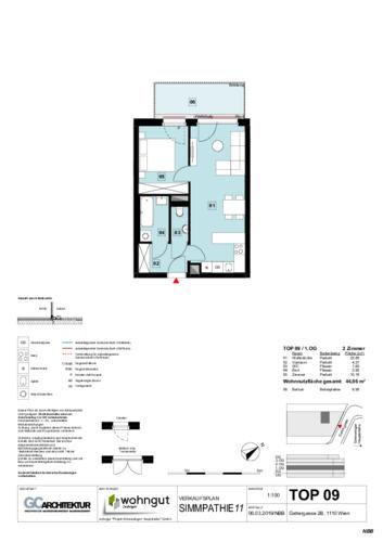 1_Verkaufsplan der Wohnung TOP 09_NBB