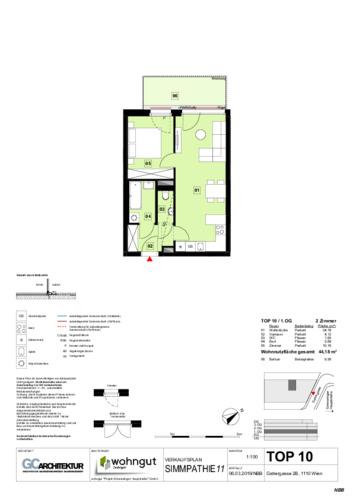 1_Verkaufsplan der Wohnung TOP 10_NBB
