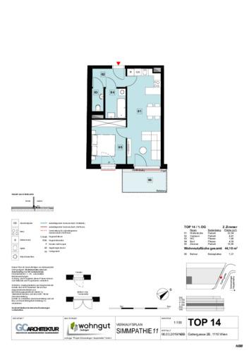 1_Verkaufsplan der Wohnung TOP 14_NBB