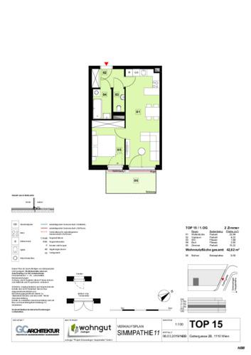 1_Verkaufsplan der Wohnung TOP 15_NBB
