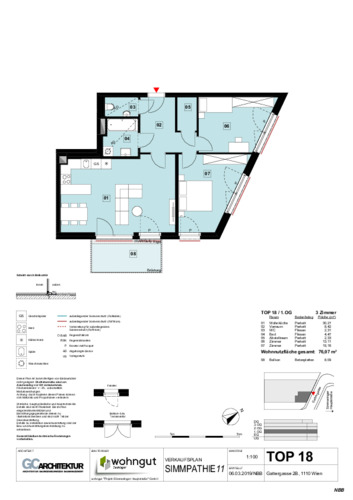 1_Verkaufsplan der Wohnung TOP 18_NBB