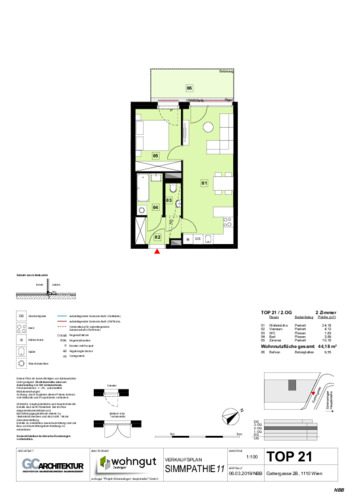 1_Verkaufsplan der Wohnung TOP 21_NBB