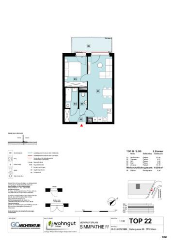1_Verkaufsplan der Wohnung TOP 22_NBB