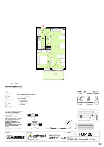 1_Verkaufsplan der Wohnung TOP 26_NBB