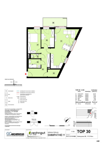 1_Verkaufsplan der Wohnung TOP 30_NBB