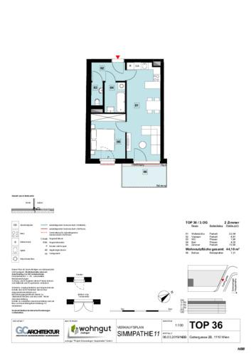 1_Verkaufsplan der Wohnung TOP 36_NBB