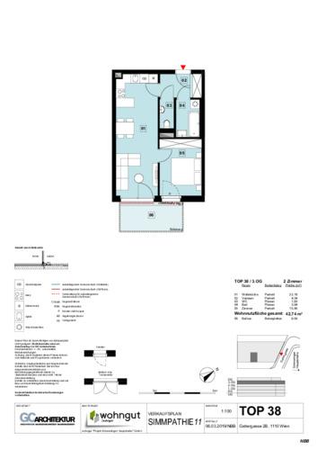 1_Verkaufsplan der Wohnung TOP 38_NBB