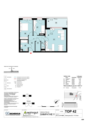 1_Verkaufsplan der Wohnung TOP 42_NBB
