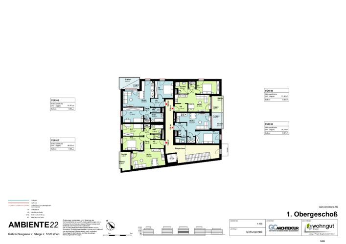 2_Geschoßplan Wohnungen K2_2_1.OG_NBB