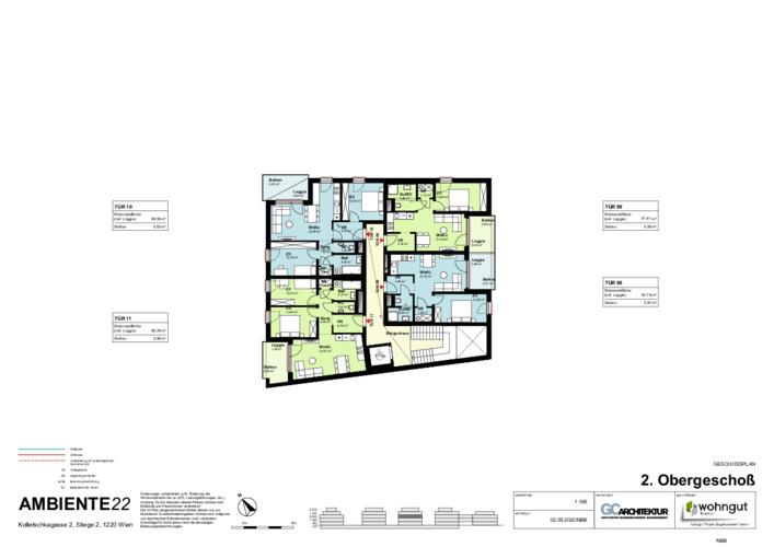 2_Geschoßplan Wohnungen K2_2_2.OG_NBB