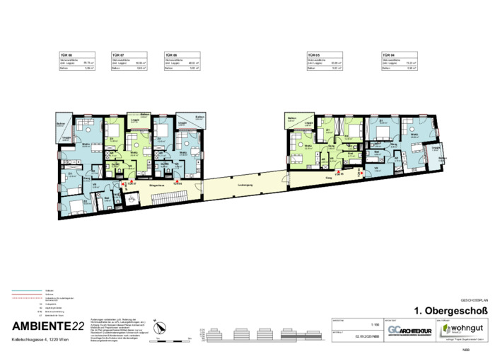 2_Geschoßplan Wohnungen K4_1.OG_NBB