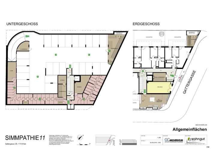 3_Geschossplan Allgemeinflächen und Dachdraufsicht_VKS