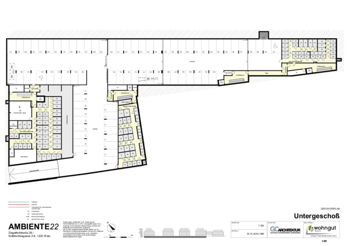 5_Geschoßplan Untergeschoß (Stellplätze und Einlagerungsräume)_VBB