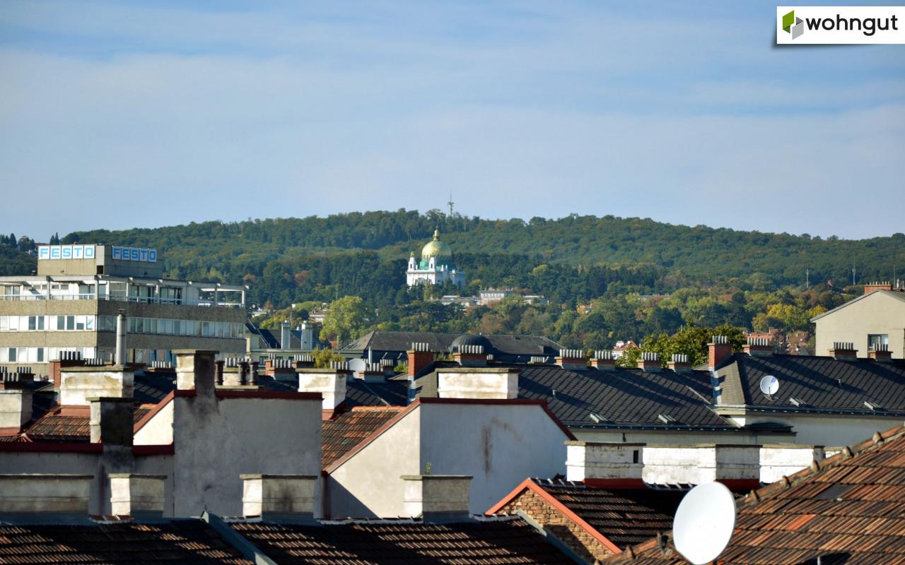 Blick Richtung Otto-Wagner-Kirche