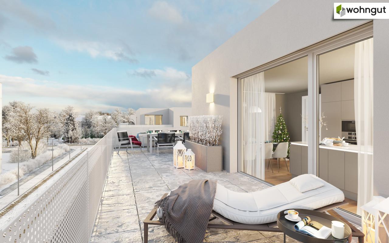 Visualisierung Terrasse winterlich