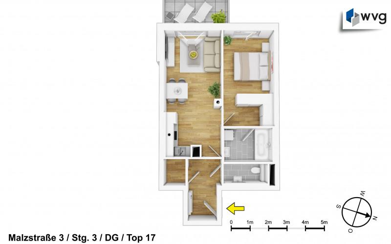 Malzstraße 3 / Stg. 3 / Top 17