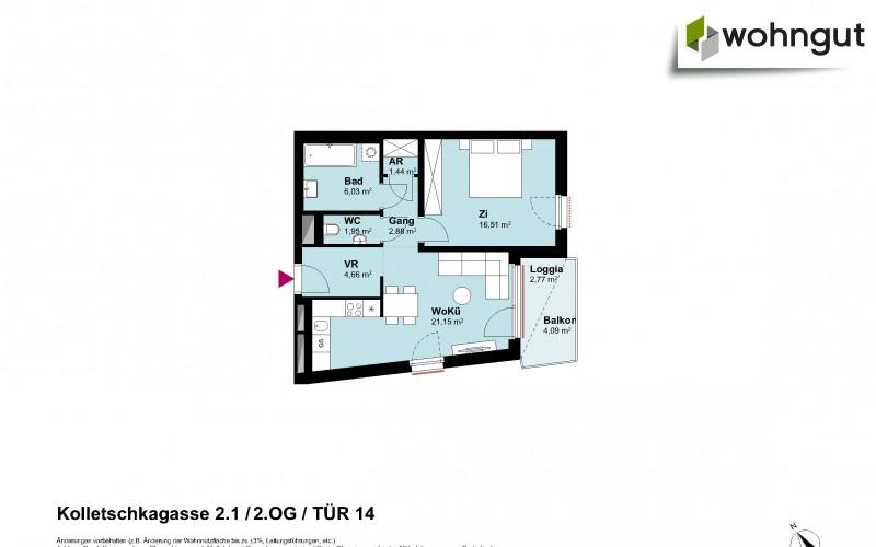 Kolletschkagasse 2 / Stiege 1 / Tür 14