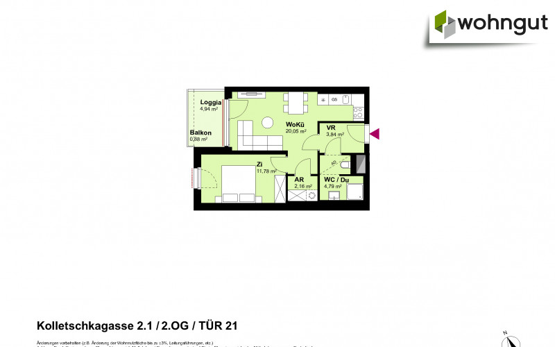 Kolletschkagasse 2 / Stiege 1 / Tür 21