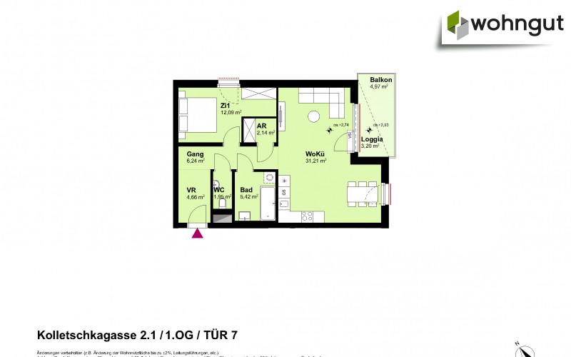 Kolletschkagasse 2 / Stiege 1 / Tür 7