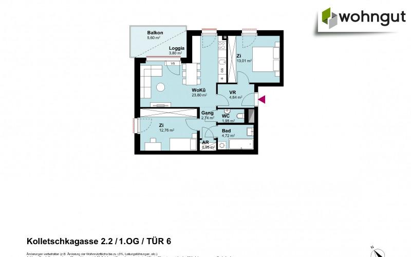 Kolletschkagasse 2 / Stiege 2 / Tür 6