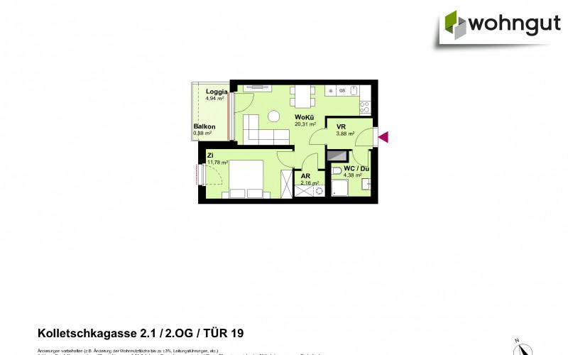 Kolletschkagasse 2 / Stiege 1 / Tür 19