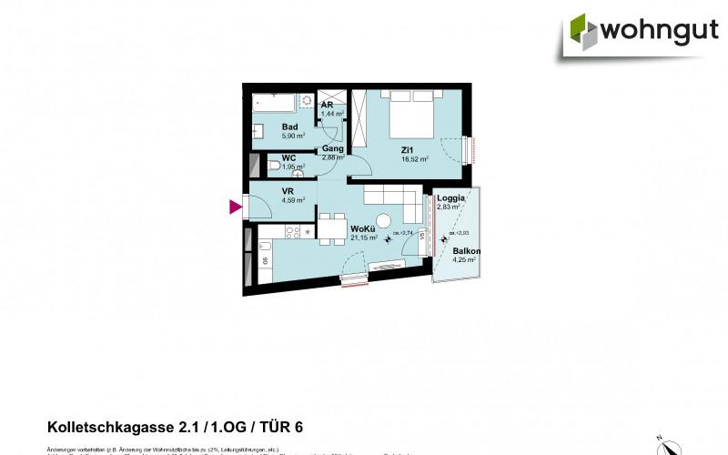 Kolletschkagasse 2 / Stiege 1 / Tür 6