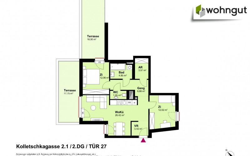 Kolletschkagasse 2 / Stiege 1 / Tür 27
