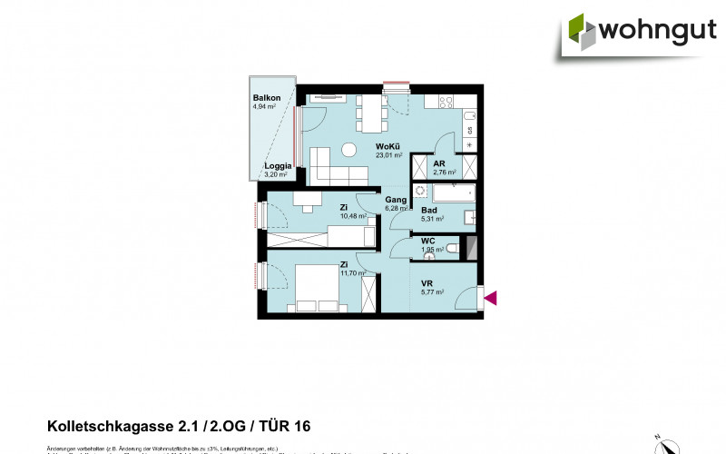 Kolletschkagasse 2 / Stiege 1 / Tür 16