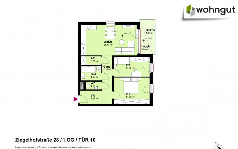 Ziegelhofstrasse 28 / Tür 10