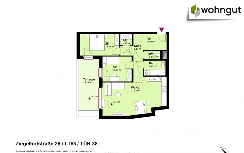 Ziegelhofstrasse 28 / Tür 38