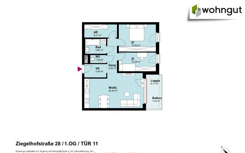 Ziegelhofstrasse 28 / Tür 11