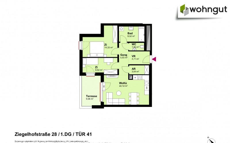 Ziegelhofstrasse 28 / Tür 41
