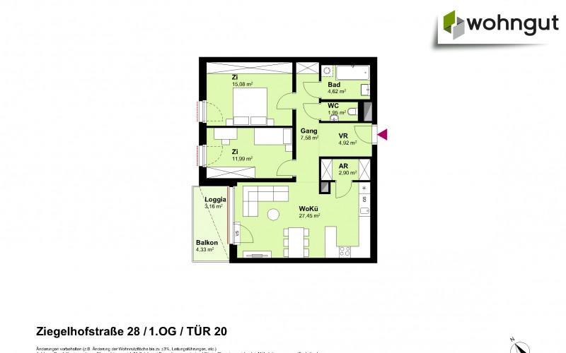 Ziegelhofstrasse 28 / Tür 20