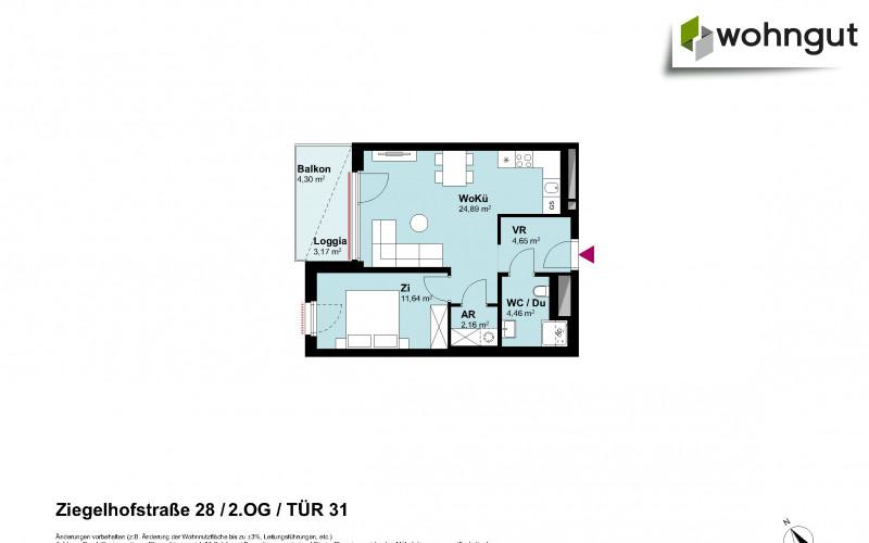 Ziegelhofstrasse 28 / Tür 31