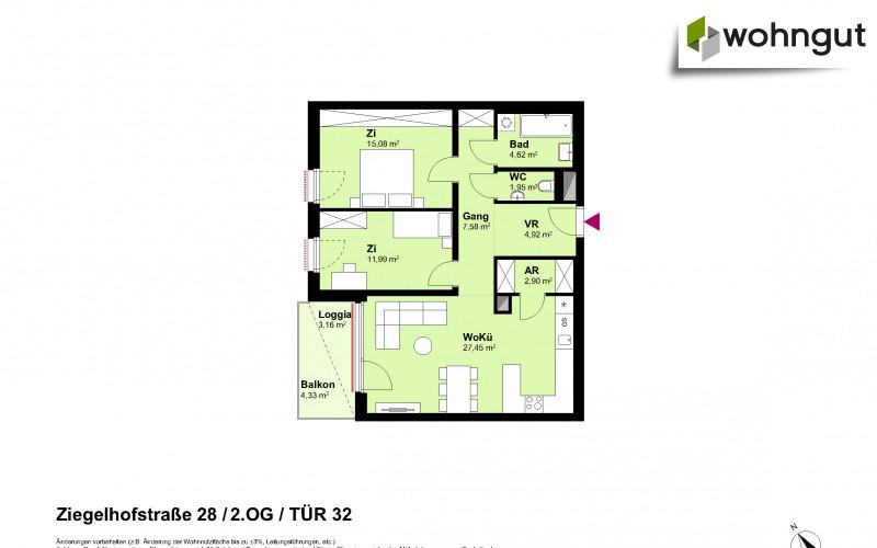 Ziegelhofstrasse 28 / Tür 32