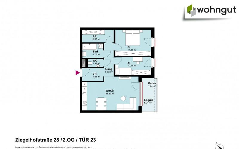 Ziegelhofstrasse 28 / Tür 23