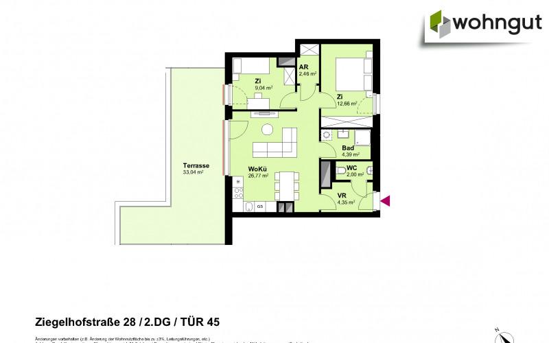 Ziegelhofstrasse 28 / Tür 45